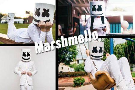 como disfrazarse de Marshmello vestido