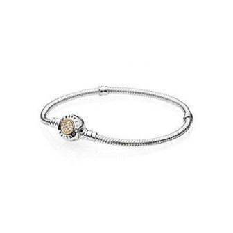 82f8d2b5b9a1 Pandora Pulsera de Mujer 925 Plata teilvergoldet circonitas (4 Centímetros)